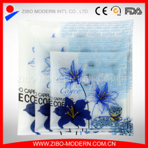 Elegant Decorative Square Tempered Glass Plates Wholesale pictures & photos
