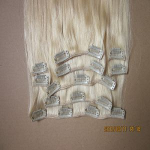 European Virgin Remy Blonde Color Clip in Human Hair Eextension pictures & photos