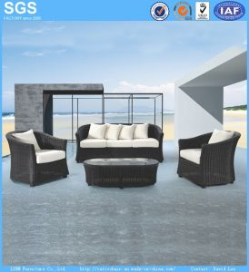 American Style Modern Design Outdor Garden Furniture Black Rattan Sofa Set pictures & photos