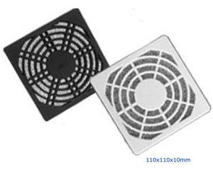Plastic Fan Guard, Triple Dust Network, 110X110X10mm