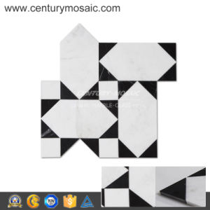 Palace Himalaya White&Nero Marquina Glass Wall Tile
