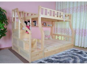 New Style Solid Wood Bunk Bed with Ladder Ark (M-X1107) pictures & photos