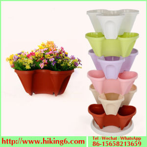 Stereo Flower Pot, Stackable Flower Pot pictures & photos
