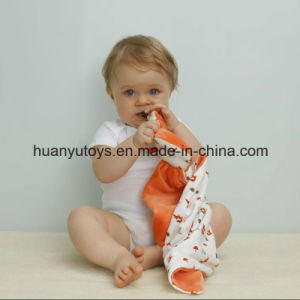 Baby Knitting Fabric Fox Snuggler Handkerchief pictures & photos