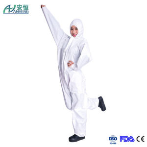 Disposable Breathable Microporous PU Film Coverall pictures & photos