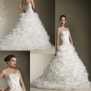 Embroidery Wedding Dresses (Z-052)