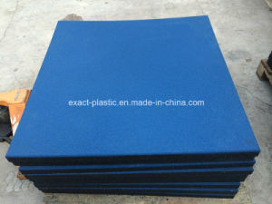 50mm Thick 1mx1m Bright Blue Crossfit Rubber Gym Floor Mats pictures & photos