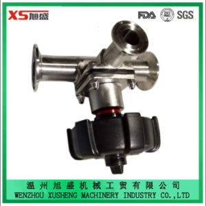 AISI 316L Hand T-Shaped Tri-Clamp Diaphragm Valve with EPDM Seal pictures & photos
