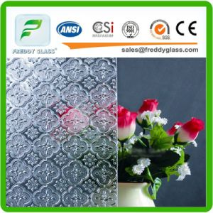 Clear Golden Fish Patterned/Rolled/Figured Decoration Glass with CE, CCC, ISO9001 pictures & photos