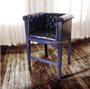 (CL-4401) Antique Hotel Restaurant Furniture Leather Wooden High Bar Chair pictures & photos
