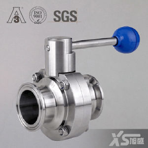 3A Stainless Steel Sanitary Hygienic Ss304 Ss316L Tri Clamp Butterfly Valve pictures & photos