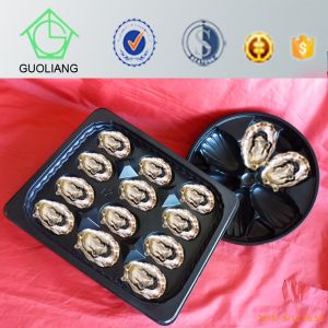 Popular Wholesale USA 31.5X26cm Oyster Packaging Black Plastic Seafood Tray pictures & photos