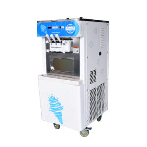 Commercial Yogurt Ice Cream Making Machine, 2+1 Mixed Flavors Frozen Yogurt Ice Cream Machine (Oceanpower OP138C) pictures & photos