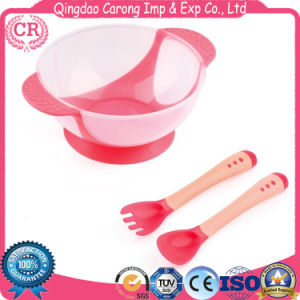 Stay Put Suction Baby Plastic Bowls with Seal-Easy Lids and Spoon Set pictures & photos