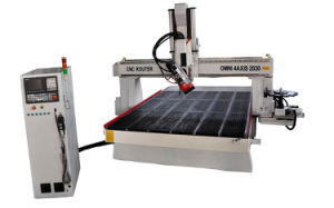 Automatic Tool Change CNC Router with Rotatable Spindle (4 axis)