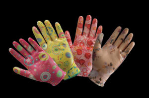 Garden Working Glove with Nitrile Coated for Women pictures & photos