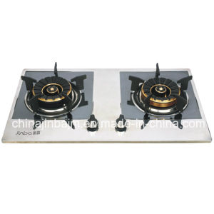 2 Burner Color Coated Stainless Steel Panel Gas Stove pictures & photos
