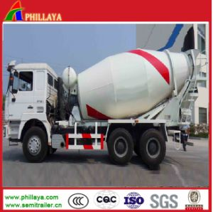 Cement Mixing Truck Semi Trailer / Cement Mixer Machinery pictures & photos