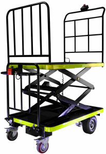 Manned Hydraulic Lifting Trolley for Warehouse (DH-LF2-C8 Curtis Controller, 800W Motor)