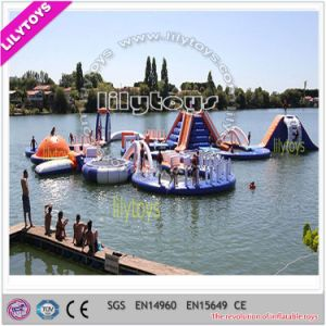 2017 Hot Selling Blue Color PVC Material Summer Inflatable Water Game Water Beach Toys (J-water park-124)