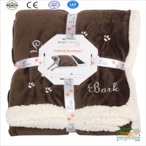 Best Wheat Super Soft Bark Pet Throw Sherpa Blanket pictures & photos