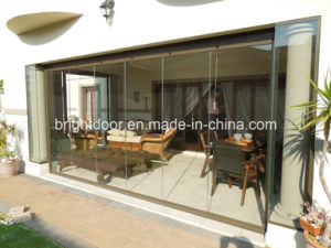 Aluminum Frameless Folding Door, Glass Door pictures & photos