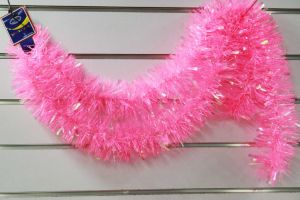 200cm Chritmas Decoration Tinsel for Pink