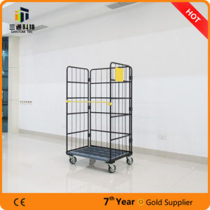 Supermarket Warehouse Folding Metal Storage Roll Container pictures & photos