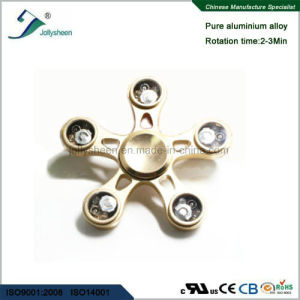 Entertainment Five Leaves Alloy of Hand Spinner Toys with LED Colorful Lights pictures & photos
