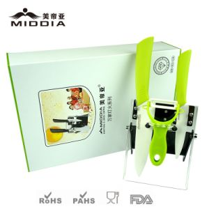 Colorbox Gift Packaging Ceramic Noble Knives with Julienne Peeler pictures & photos
