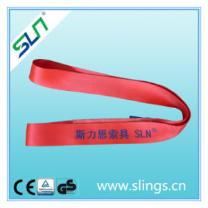5t*8m Red Endless Lifting Polyester Webbing Sling pictures & photos