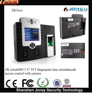 "Zk Iclock880 Multi-Media WiFi/GPRS 3.5"" TFT Fingerprint Time Attendance and Access Control Terminal with Camera pictures & photos"