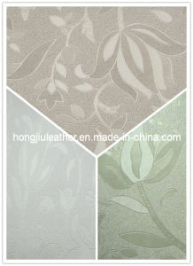 Colorful Flower Printed Pattern PVC Decorative Leather (Hongjiu-428#) pictures & photos