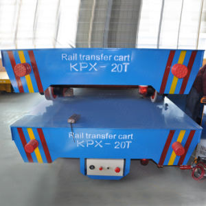 Battery Powered Kpx 50t Motorized Coil Transfer Cart on Rails pictures & photos