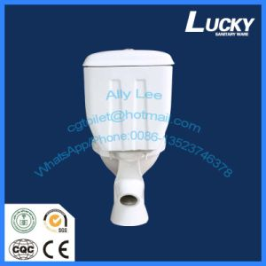 Economic Water Closet Wash Down Two Piece Ceramic Toilet with a-Grade Quality pictures & photos