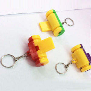 Promotation Kids Toy Colorful Plastic Whistle with Key Ring (10224290) pictures & photos