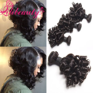 Nigeria Popular Beauty Human Hair Extension with Bouncy Curls pictures & photos
