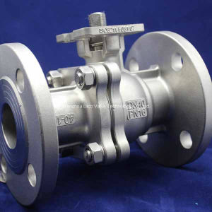 GB Pn16 Pn25 Investment Casting 2PC Flange Ball Valve with Locking Device pictures & photos