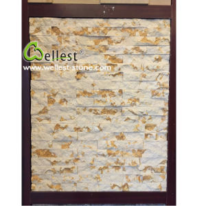 China Beautiful Golden Culture Ledge Stone Stacked Stone Veneer pictures & photos