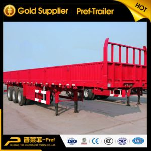 Step-Wise Type Tri-Axle Stake Semi Trailer for Sale