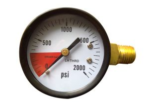 CO2 Balck Steel Case Pressuge Gauge (B-0045)