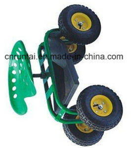 Four Wheels Garden Rolling Work Seats Tool Cart pictures & photos