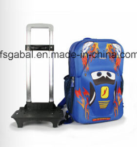 3D Cartoon Detachable Trolley Kids Bag Backpack pictures & photos