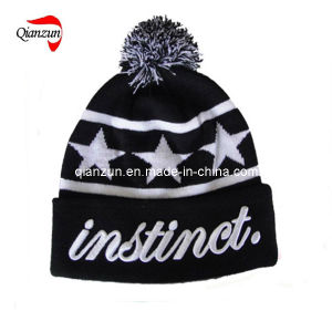 Ball Top Knitted Hat Beanie Hat (ZJ004)