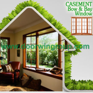 Oak Wood Aluminum Basement Casement Window, Perfect Durability Aluminum Red Oaken Wood Casement Windows pictures & photos