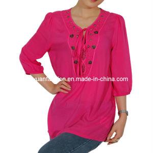 Fashion Woman Embroidery Shirt (XYSH-007)
