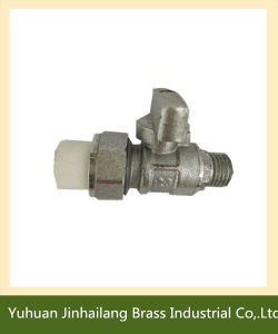 Brass Push to Connector Ball Valve with Nipple