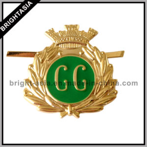 Custom Souvenir Gold Police Badge for Leather (BYH-10729) pictures & photos