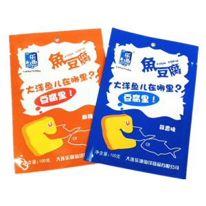 Plastic 3 Sides Seal Sea Food Packaging Bag pictures & photos