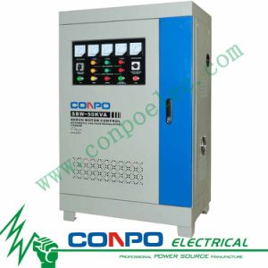 SBW-50kVA 3phase Full-Auotmatic Compensated Voltage Stabilizer/Regulator pictures & photos